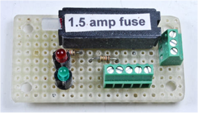 Fuse on a circuit board