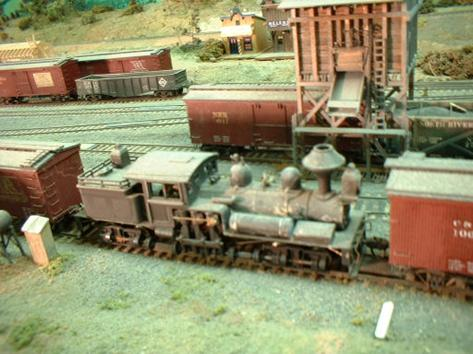 "A class ""B"" shay waits for its morning run.