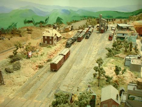 Overview of Bobston Yard. This is considered the end of the line although there is a spur to the logging operation beyond.  
